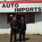 Dwayne Dudiak and Dave Tomlinson: new owners at Auto Imports, Edmonton