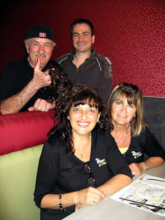 Au blanc d'oeuf owner Carmine Catino with staff