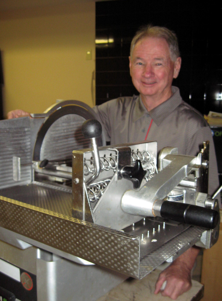ROVIS owner Bill Kenney with Bizerba slicer
